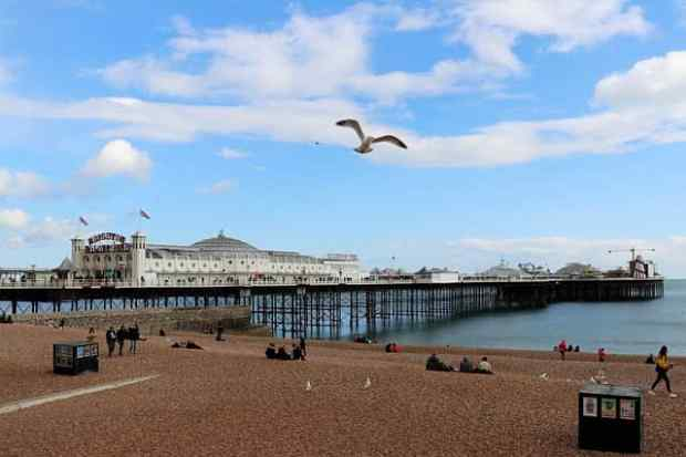 Brighton Pier East Sussex England UK local history resources