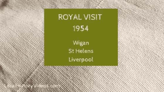 Royal visit to Wigan St Helens Liverpool 1954 England UK local history videos