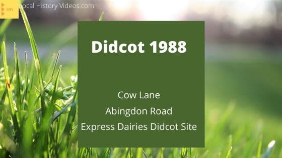 Didcot 1988 Oxfordshire England UK Cow Lane Abingdon Road Express Dairies site