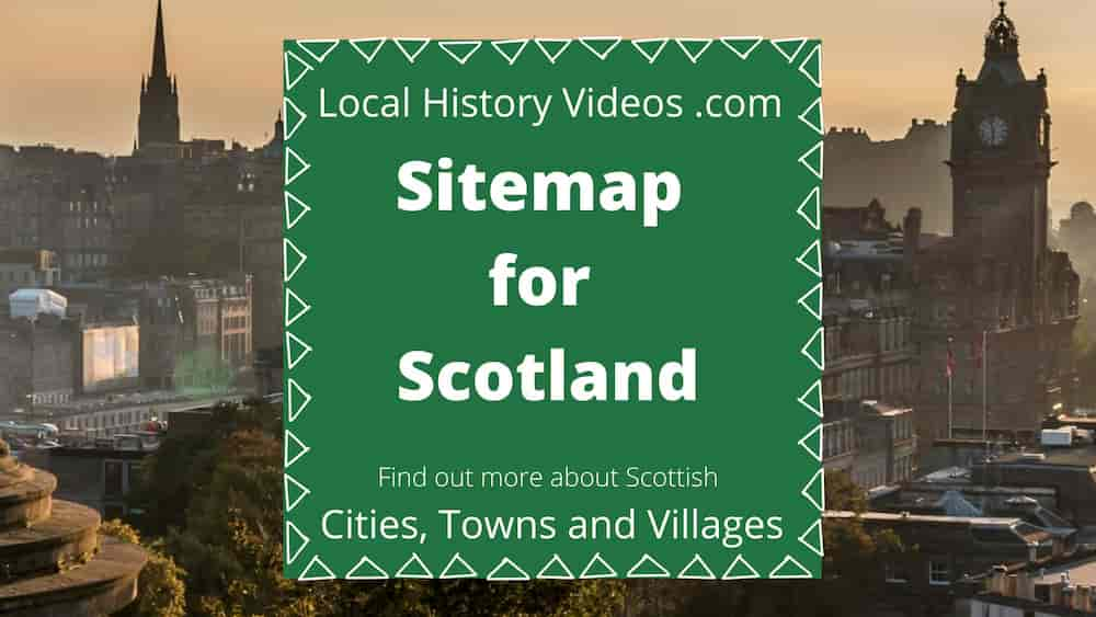sitemap for Scotland cities towns and villages